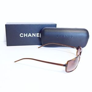 Chanel vintage tortoise pearl sunglasses with case